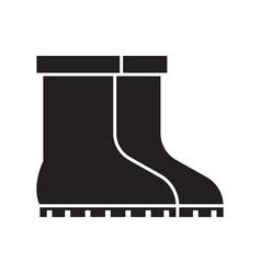 Garden boots icon vector