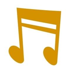gold icons set music note melody symbols vector image