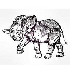Hand drawn ornate elephant vector