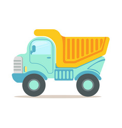 Heavy duty dump truck construction machinery vector