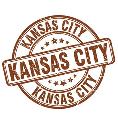 Kansas city stamp vector