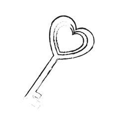 key in heart shape vector image