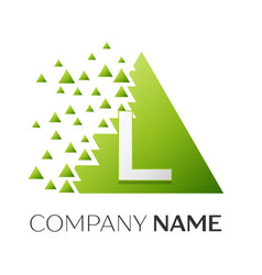Letter l logo symbol in colorful triangle vector
