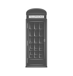 London phone booth in graphic style vector