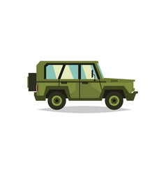 military car transportation soldiers special vector image