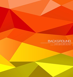 Polygon abstract background vector image vector image