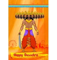 Ravan in dussehra advertisment and promotion vector