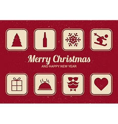 To do list for christmas fun christmas card flat vector
