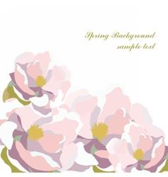 Watercolor Blooming Flowers vector image vector image