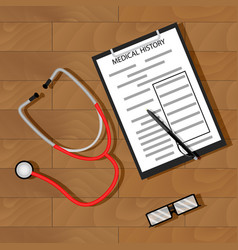 write patient medical history vector image