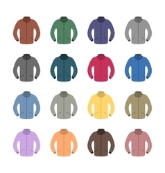 Set of colored tracksuits vector image