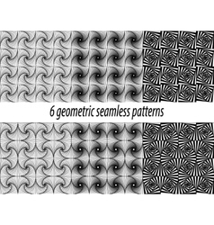 6 Paradox zentangle patterns vector image