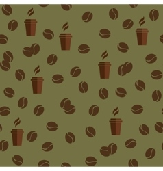 Tea or coffee cups seamless pattern with vector