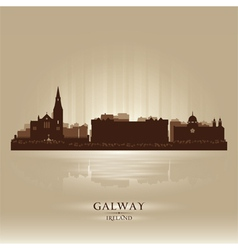 Galway Ireland skyline city silhouette vector image