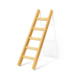 wooden step ladder vector image