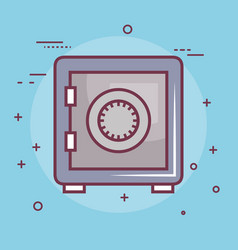 Safe-deposit box icon vector