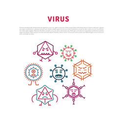 Seamlessbacteria and viruses pattern vector