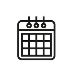 Calendaricon on white background vector