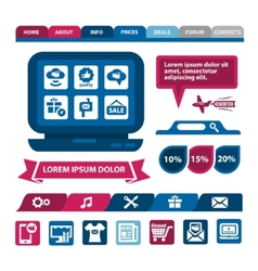 flat infographics and web elements vector image