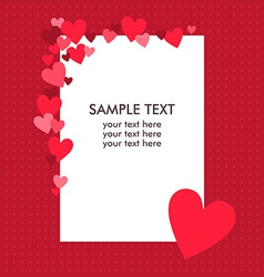 White paper sheet with text on the red background vector