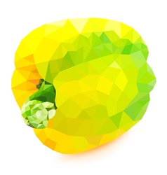 Poly yellow bell pepper vector