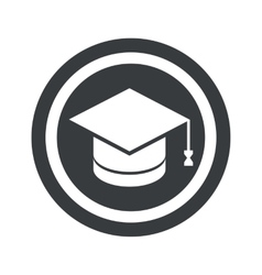 Round black graduation sign vector