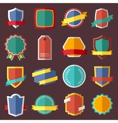 Set of retro vintage labels signs and badges vector