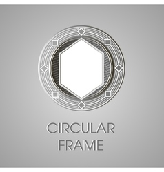 Metal circular frame for text text box vector