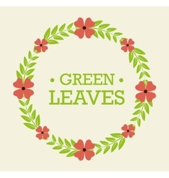 Green nature and leaves design vector