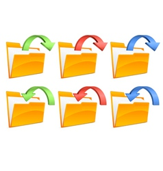 folders with arrows vector image