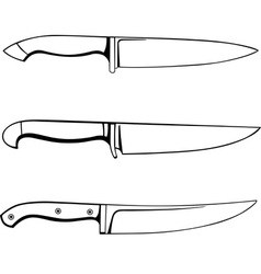 kitchen knifes vector image