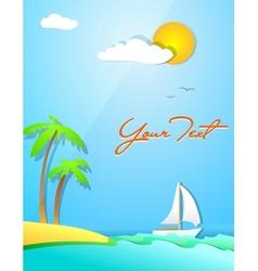 Summer holiday design vector