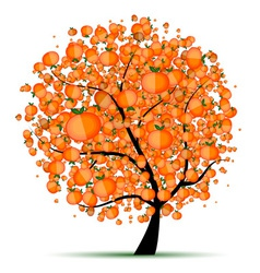 Energy citrus tree for your design vector