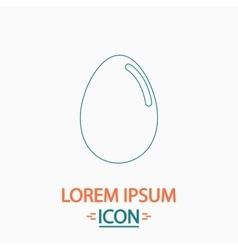 Egg computer symbol vector