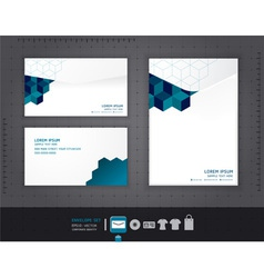 Abstract set of envelopes corporate vector image vector image