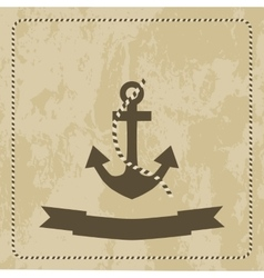 anchor marine on grunge background vector image vector image