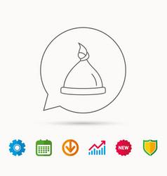 Baby hat icon newborn cap sign vector