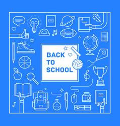 back to school poster or invitation design vector image