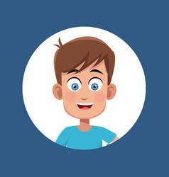 Boy kid male character image vector