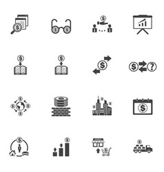 business money and finance icons with texture vector image vector image