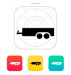 Car trailer icon vector