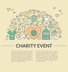 Charity banner vector