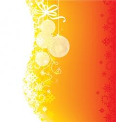 Christmas glow vector image vector image