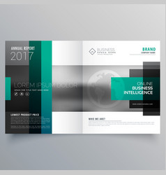Creative booklet brochure template design with vector