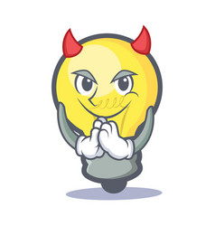 Devil light bulb character cartoon vector