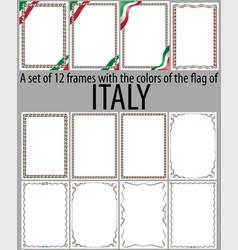 flag v12 italy vector image