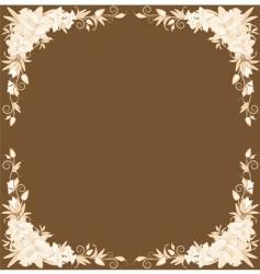 floral border design vector image