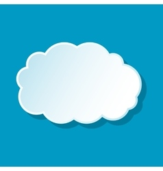 Fluffy cloud icon vector