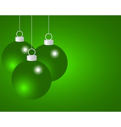 Green christmas balls vector