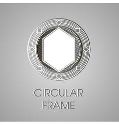 Metal circular frame for text text box vector